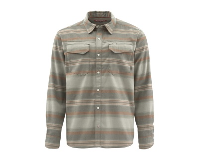 Simms Gallatin Flannel - Dark Stone Stripe