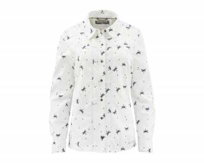 Simms Womens Isle Shirt - Dragon Fly White