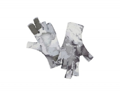 Simms Solarflex Sungloves - Cloud Camo Grey