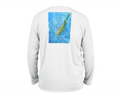 Simms Solar Tech Tee - Rising Trout Sterling