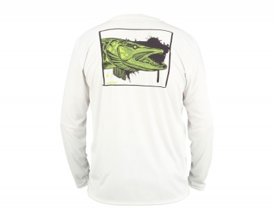 Simms Solar Tech Tee - Muskie Face White