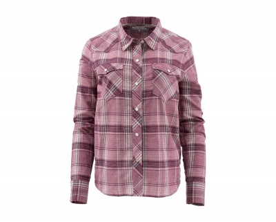 Simms Womens Ruby River Shirt - Garnet Plaid