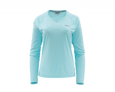 Simms Womens SolarFlex Crewneck - Sea Breeze