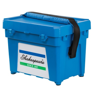 Shakespeare Seatbox - Blue Strap And 2 X Tray, Cusion, Padded Strap And Tackle Box