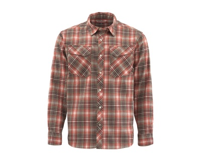 Simms Gallatin Flannel - Simms  Orange Plaid