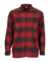 Simms Coldweather Shirt - Auburn Red Plaid