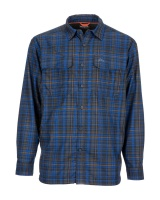 Simms Coldweather Shirt - Rich Blue Admiral Plaid