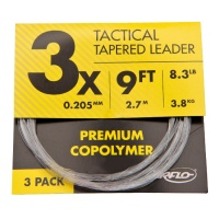 Airflo Tactical Tapered Leaders 3 Pack - 9'