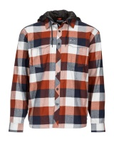 Simms Coldweather Hoody - Rusty Red Buffalo Plaid