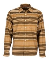 Simms Gallatin Flannel Shirt - Dark Bronze Stripe