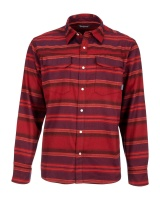Simms Gallatin Flannel Shirt - Auburn Red Stripe
