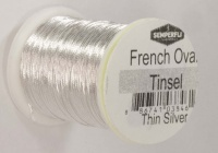 Semperfli French Oval Tinsel - Small - Silver