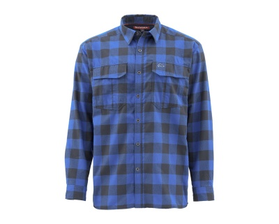 Simms ColdWeather Shirt - Rich Blue Buffalo Plaid